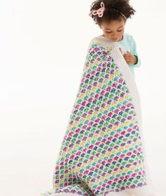 Chasing Rainbows Blanket Free Crochet Pattern in Red Heart Yarns by Marly Bird
