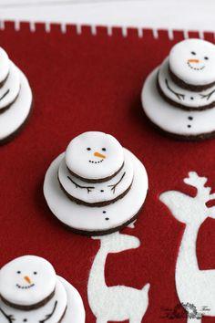 snowman cookies, so cute