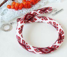 Ethnic necklace Ukrainian traditional jewelry Geometric choker necklace Folk…