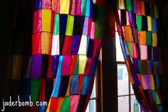 """Jaderbomb.com: Check out my """"stained glass"""" curtains I made!!!"""