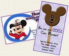 Cast Member Appreciation Cards