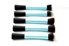 Techniques Luxury 5 pieces super soft hair blue  brush kit for make up,Eye Face Cosmetic brush kit made by DEE shop US $15.99