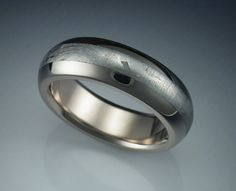 18k palladium white gold man's ring with by Metamorphosisjewelry, $2250.00