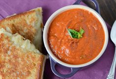 "PANERA COPYCAT CREAMY TOMATO SOUP: ~ From: Panera.com ~ By: Jessica from ""The Novice Chef."" ~ Cooking Time: 30 min; Yield: (4 servings). ~  Look no further for a tomato soup recipe. This Panera Copycat Creamy Tomato Soup recipe is the perfect mix of light cream, tomato, and basil flavors. Canned tomatoes work perfectly to recreate this classic soup."