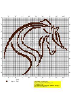Contours brown horse print - passionbrode77.canalblog.com