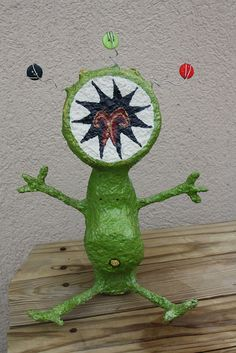 Floss the paper mache monster by In a Juice Box (Lori Shaffer), via Flickr