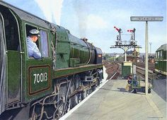 Fine Art Prints of Railway Scenes & Train Portraits - 70013 Oliver Cromwell at Norwich by Nick Hardcastle