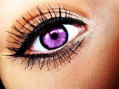 I want to try  purple contacts :)