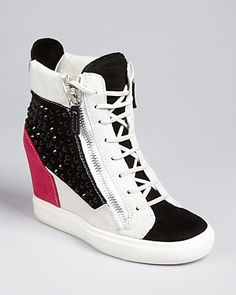 Giuseppe Zanotti Lace Up Wedge Sneakers - London | Bloomingdale's