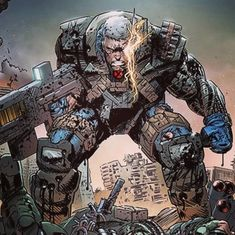 Amazing colors by lines by me Marvel Comic Character, Comic Book Characters, Marvel Characters, Comic Books Art, Cable Marvel, Cable Xmen, Disney Marvel, Marvel Xmen, Marvel Art