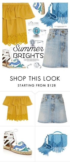 """Summer Brights"" by totwoo ❤ liked on Polyvore featuring Madewell, R13, Aquazzura and Sam Edelman"
