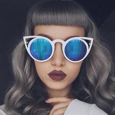 997f6f2d2c4 Oversized Cutout Round Cat Eye Sunglasses