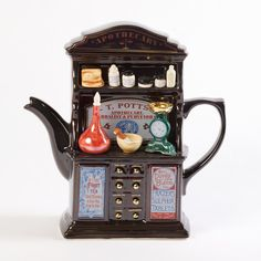 TeaPottery Apothecary Teapot Hand Painted