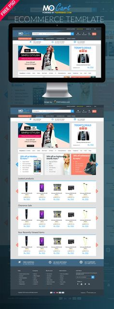 The 129 best e commerce images on pinterest psd templates website mocart e commerce website psd template has a new layout with gorgeous look and absolutely accmission Images