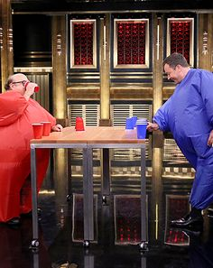Jimmy Fallon Challenges Danny DeVito to Hilarious Game of Flip Cup - Us Weekly