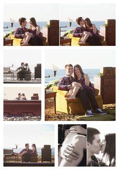 A romantic vintage engagement session by Del Mar Beach railroad tracks #vintage #unique #engagement #beach www.studiosequoia.com