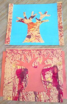 Pintar Árboles de Otoño