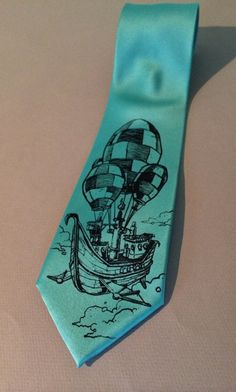 Necktie  Pirate Balloon Tie  Men's Prates Hot Air by spaghettikiss, $25.00  May need to buy this one for the husband.