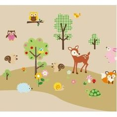 Forest Animals Baby/Nursery Wall decals EEEEKKKKK!!!!!!