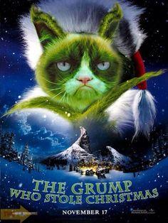 Grumpy Cat as the Grinch