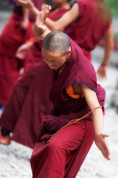 Sera monastery Lhasa Buddhist debate Tibet travel by GingerLemony, $30.00