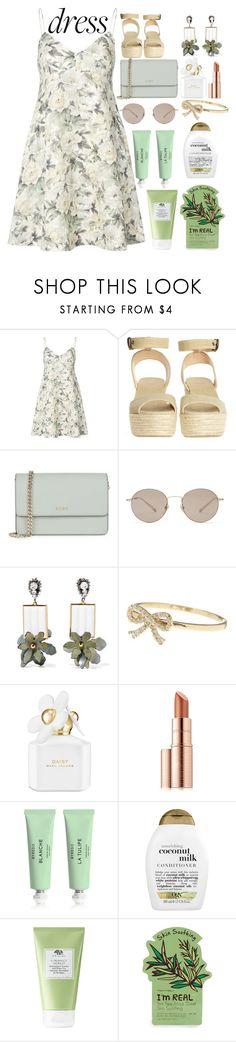 """floral dress!🌼🌿🍃"" by katerinaso19 ❤ liked on Polyvore featuring Zimmermann, Castañer, DKNY, Gucci, Marni, Bony Levy, Marc Jacobs, Estée Lauder, Byredo and Organix"