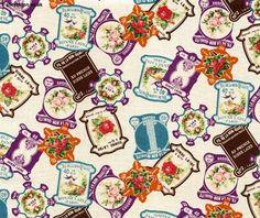 Vintage Thread Cards Ecru, Trefle, Kokka Japanese Import Fabric