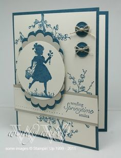 2/4/2011; Wendy at 'Wickedly Wonderful Creations' blog using Easter Blossoms stamp sset