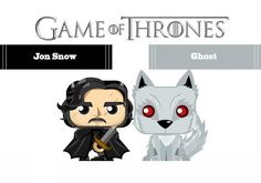 Game of Thrones - Jon Snow and Ghost Mini Papercrafts Free Download