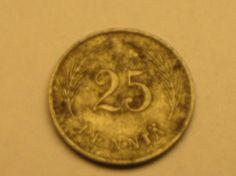 25 penniä 1943 Fe, R87