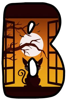 Halloween Letters, Monogram, Fancy, Holiday, Art, Alphabet, Gatos, Letters, Cats