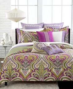 This would go well with my room and curtains. Echo Vineyard Paisley Full/Queen Duvet Cover Set.