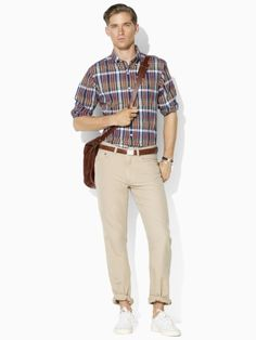Straight-fit five-pocket pant in boating khaki, Polo Ralph Lauren