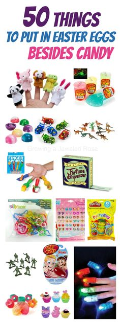 50+ creative things to put in Easter eggs BESIDES candy- such neat ideas! Some things I have never even seen before! (Easter egg stuffer ideas)