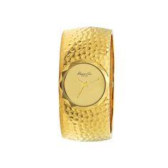 I love the Kenneth Cole New York Pebbled Metal Bangle Watch from LittleBlackBag