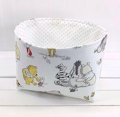 Winnie the Pooh Storage Basket, Toy Storage, Fabric Storage Bin - Eeyore, Tigger and Winnie the Pooh Kids Storage, Toy Storage, Nursery Themes, Nursery Decor, Theme Bedrooms, Fabric Storage Baskets, Basket Storage, Winnie The Pooh Nursery, Disney Nursery