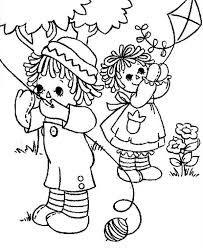 Resultado de imagem para Raggedy Ann and Andy colouring book