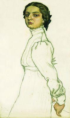 Sister's portrait by Mstislav Dobuzhinsky (1910).