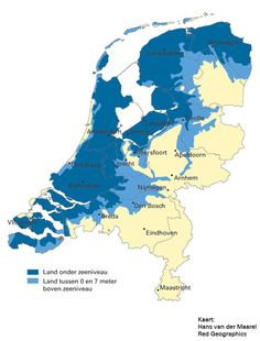 How much of the Netherlands is below sea level Holland Map, Amsterdam Holland, Map Geo, Netherlands Map, Map Design, Sea Level, Historical Maps, Global Warming, World History