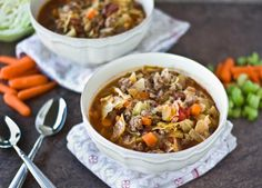 Cabbage Patch Stew - Loved this! Add extra spice to it. Used Boston Baked Beans, did not find Ranch Style Beans - must continue the search. Chili Recipes, Crockpot Recipes, Soup Recipes, Cooking Recipes, Healthy Recipes, Yummy Recipes, Boston Baked Beans, Soup And Sandwich, Cabbage Patch
