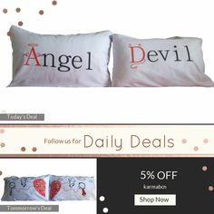 Today Only! 5% OFF this item.  Follow us on Pinterest to be the first to see our exciting Daily Deals. Today's Product: ON SALE - 5B- Angel ... Devil . Bed Pillow Cases / Covers Buy now: https://www.etsy.com/listing/465896711?utm_source=Pinterest&utm_medium=Orangetwig_Marketing&utm_campaign=christmans   #etsy #etsyseller #etsyshop #etsylove #etsyfinds #etsygifts #pillowcases #pillowcovers #originalgift #photooftheday #instacool #onlineshopping #musthave #instashop #instafollow #shopping…