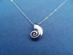 The Little Mermaid, Ariels Voice Shell, Sterling Silver chain necklace | simplecrystal - Jewelry on ArtFire