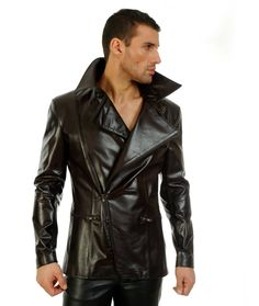 NorthBound Leather - Northbound.com - Makers of fine leather clothing, lingerie and kinky dungeon gear - For Him :: Coats . Jackets :: (6453) Men's Jacket