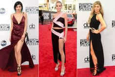 Thigh high slits in evening gowns have been all over the red carpet. They are perfect way to be a little sexy while staying classy and sophisticated, I hope to see this trend trickle down to lower priced garments. Amanda R.