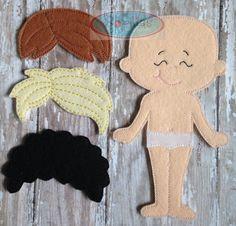 Muñeca fieltro de vestir A: Muchacho o por SophiasKidKaboodle