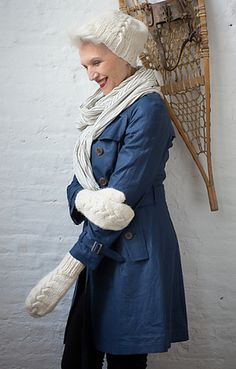 Designed by Kate Gagnon Osborn and knit out of warm and lofty Tundra, this hat and mitten set features a large braided cable, deep ribbing. ...