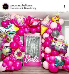 Barbie Birthday Party Games, 6th Birthday Girls, Barbie Theme Party, 3rd Birthday Parties, Barbie Party Decorations, Fiesta Decorations, Balloon, Birthdays, Party Ideas