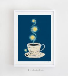 Starry Starry Coffee Art Print