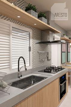 Interior Design Living Room Warm, Small Apartment Interior, Interior Design Kitchen, Kitchen Pantry Design, Kitchen Cabinet Colors, Modern Kitchen Design, Kitchen Dinning Room, Home Decor Kitchen, Exclusive Club