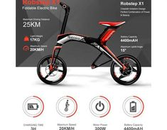 Robstep X1 is a 100% electrically run scooter, sport design, foldable, replaceable battery offering a range between 25km or 50km.